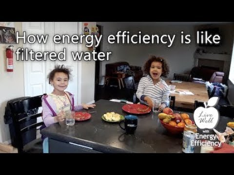 How Energy Efficiency is like Filtered Water - Live Well with Energy Efficiency