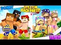 Minecraft LITTLE CLUB BIKINI BEACH PARTY - BOYS VS GIRLS CHALLENGE!!