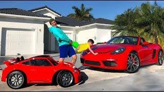 Senya and Daddy do not Share the New Porsche.
