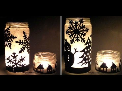 christmas in a jar diy candle holder christmas decorations youtube