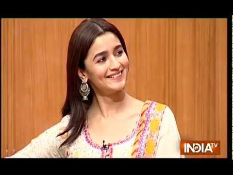 Alia Bhatt blushes when asked about dating rumours with Ranbir Kapoor on Aap Ki Adalat
