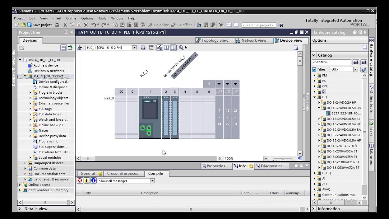 Siemens S7 PLC Ders 4: OB, FC, FB, DB Organizasyon ve Fonksiyon blokları