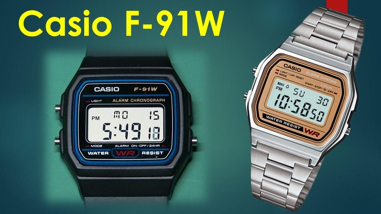 4b26a8a4f8b0 Casio F-91W Retro Chic or Terrorist Watch  - YouTube