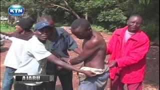 Ajabu: Matatu tout forceful shower