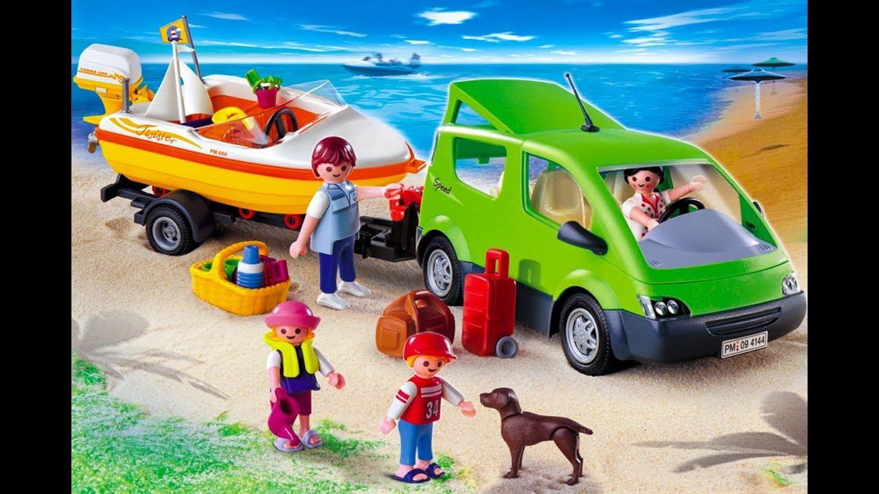 Fr Voiture Playmobil4144 Le Et La Family Fun Bateau OPXiukZ