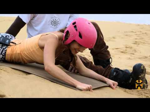 Travel Namibia - Sandboarding In Swakopmund