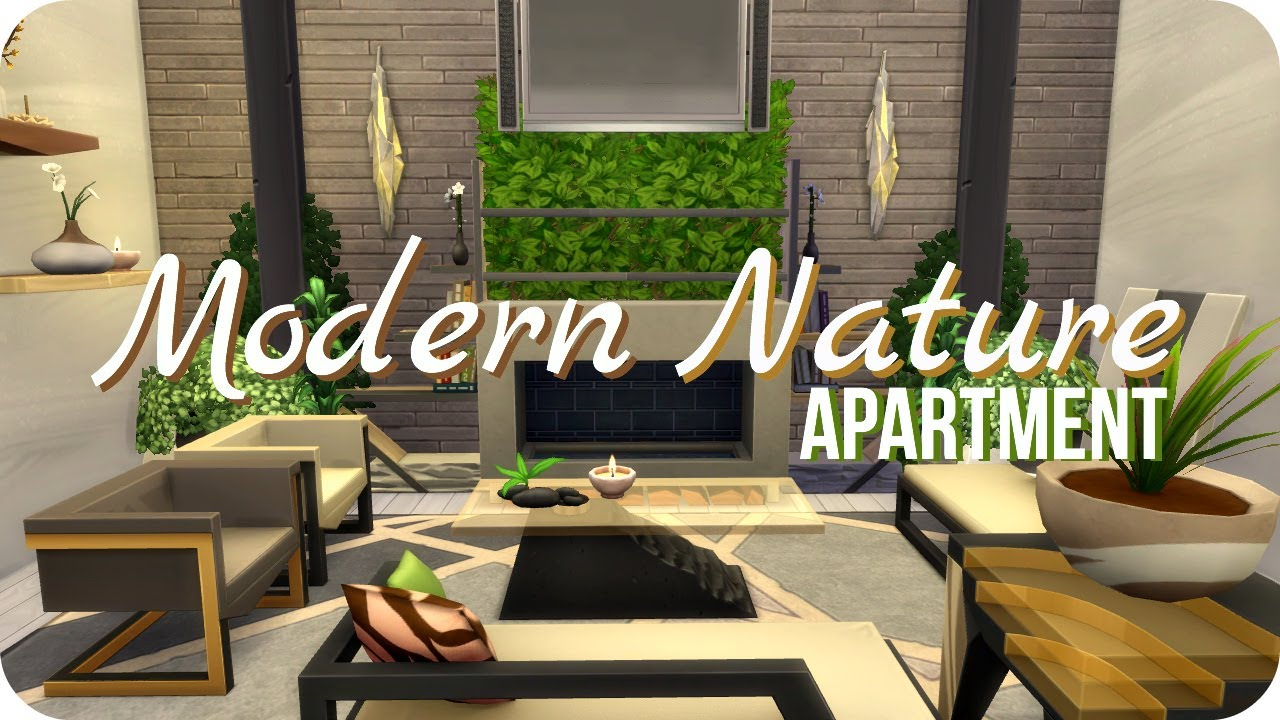 Sims 4 Fitness Stuff Speed Build | Modern Nature Apartment - YouTube
