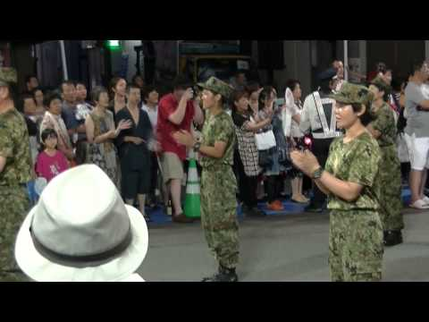 陸上自衛隊松山駐屯地連【2015松山まつり野球拳踊り】