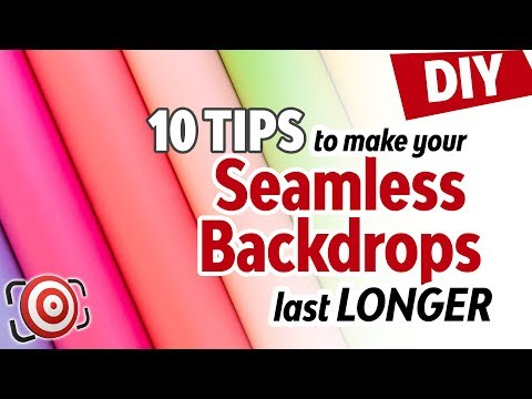 10 Tips to make Seamless Paper Backgrounds last longer & 2 DIY fixes for your photo studio backdrops