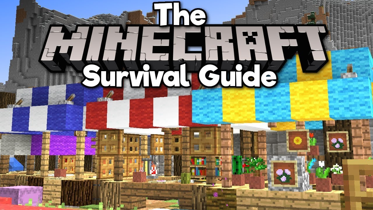 Building a Medieval Marketplace! ▫ The Minecraft Survival Guide (Tutorial  Lets Play) [Part 12]