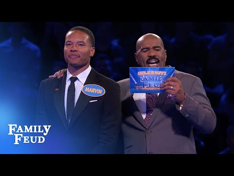 The Lions' Marvin Jones gets Fast Money IN THE BAG! | Celebrity Family Feud  | OUTTAKE