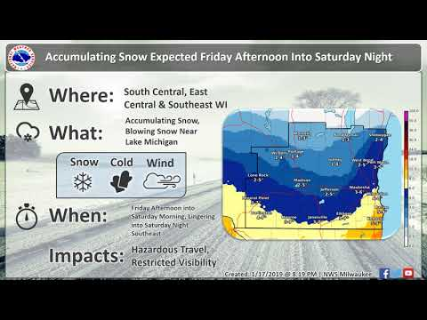 Madison News - Winter Weather to impact southern Wisconsin Friday and Saturday