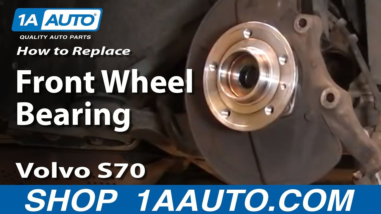 How To Install Replace Front Wheel Hub Bearing Assembly 98 00 Volvo S70 1aauto Com Youtube