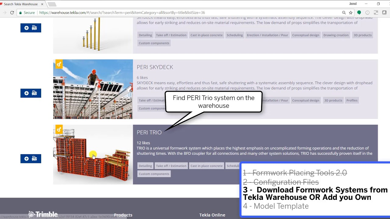 Download And Setup Formwork Placing Tools 2017i 1 Tekla Structures Youtube