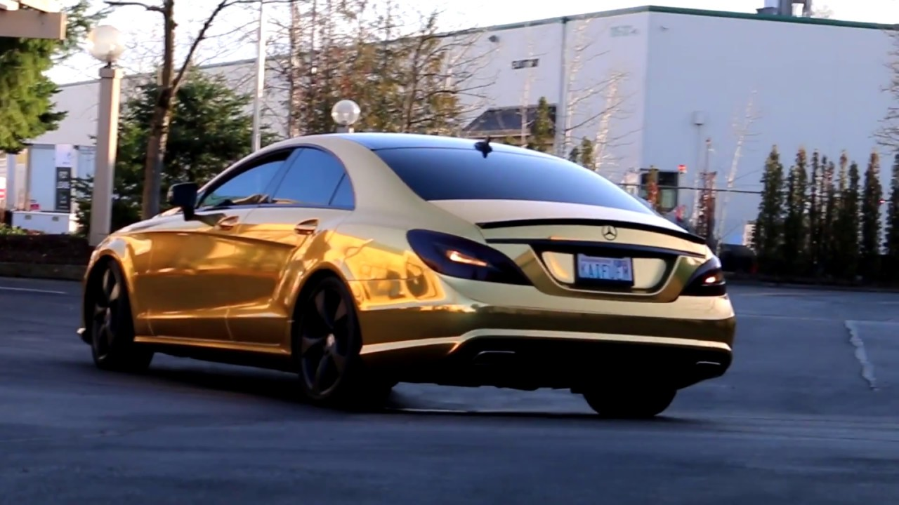 2013 Mercedes Benz Cls 550 Wrapped In Gold In Seattle