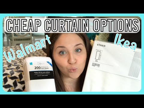 Cheap Curtain Options - Walmart vs Ikea