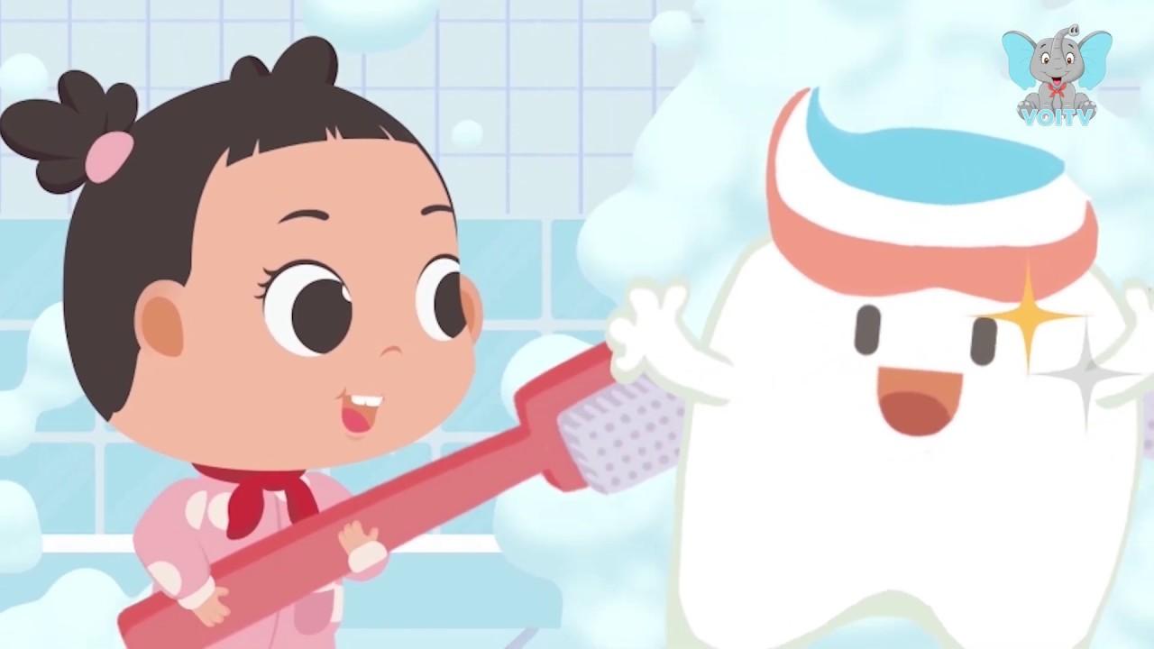 image Xoay Xoay Xoay | Bài Hát Dạy Bé Đánh Răng | Tooth Brushing Song | Nhạc Thiếu Nhi Hay | Voi TV