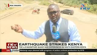 Earthquake in Kenya: KENHA assessing damage on Naivasha-Mai Mahiu road