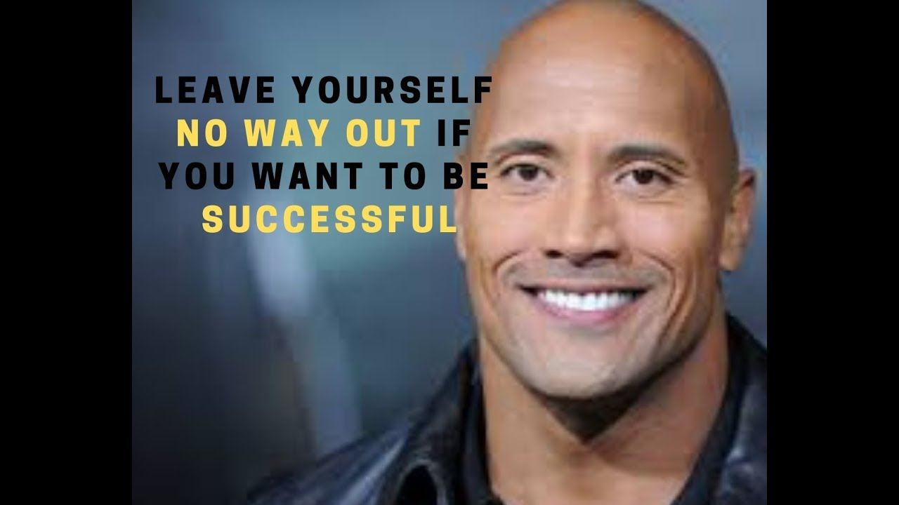 Put Your Back Against The Wall Dwayne Johnson Success Story