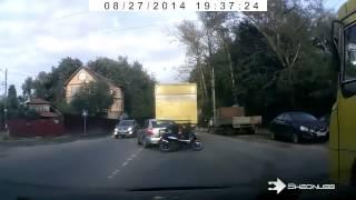 Distroy in second by motor Bike