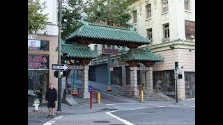San Francisco Walking Tour, USA - Lombard Street, Chinatown, Union Square