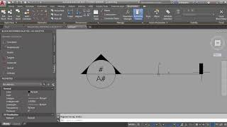 AutoCAD Demo - creating a section tag with rotate and stretch actions