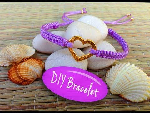 Diy Celet Celet Making Tutorial With String And Heart Charm