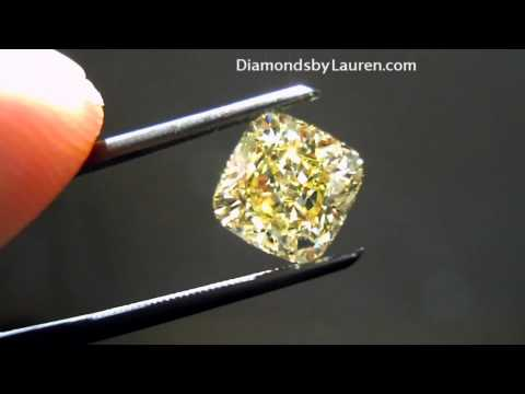2.34 Intense Yellow VVS1-almost An Old Mine Cushion VALUE GIA