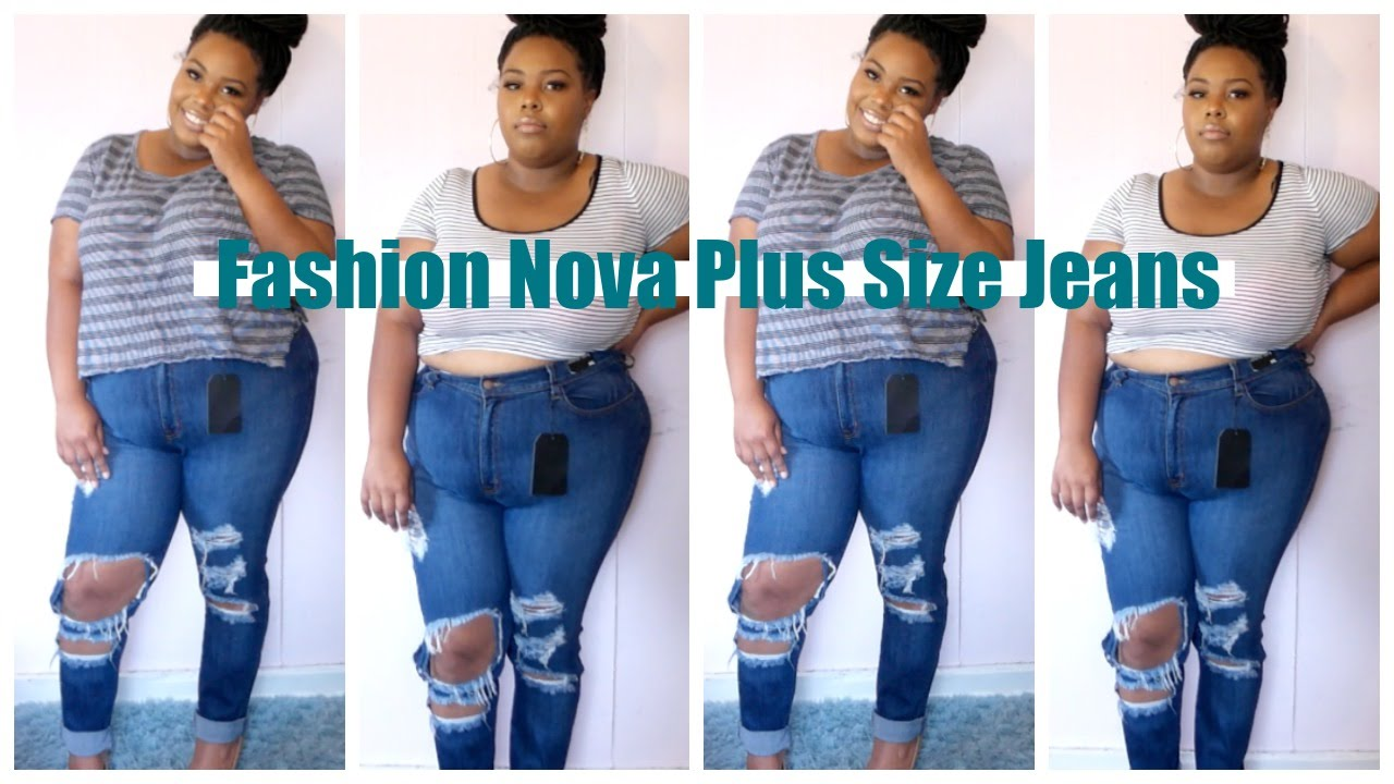 fashion nova plus size jeans?? yay or nay - youtube
