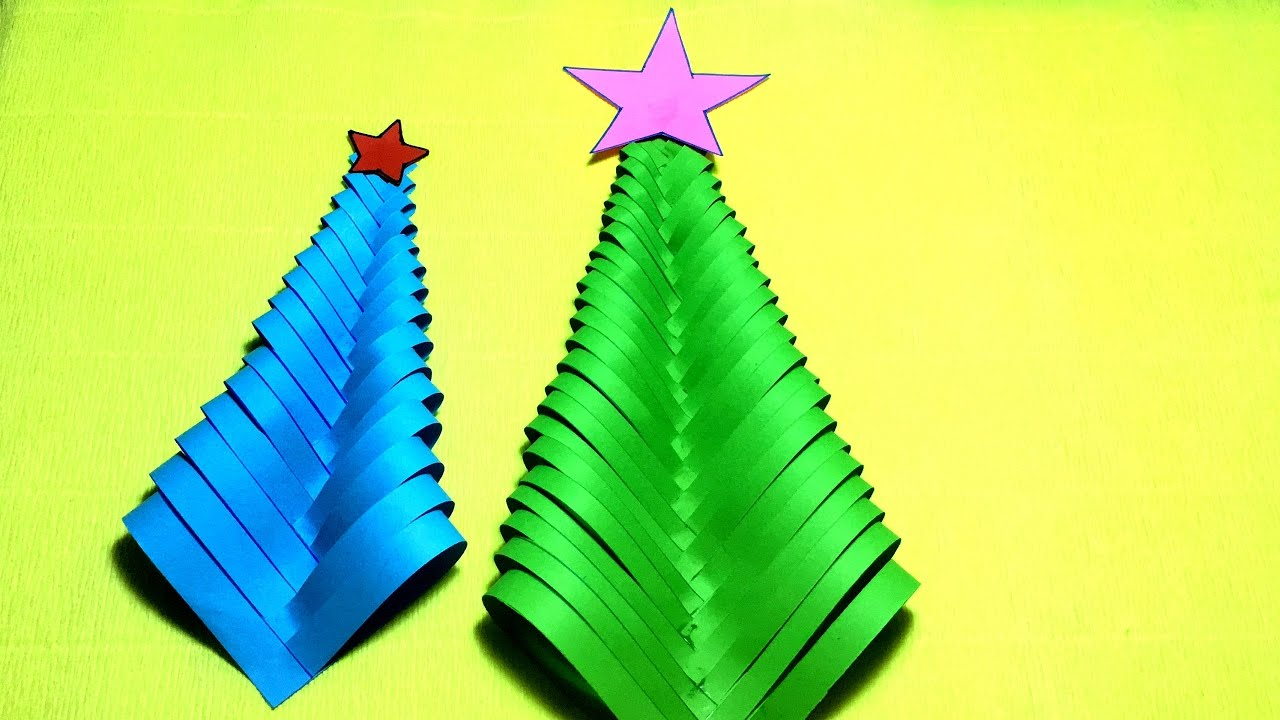 diy paper christmas tree christmas tree ornaments christmas tree decor youtube - Paper Christmas Tree Decorations