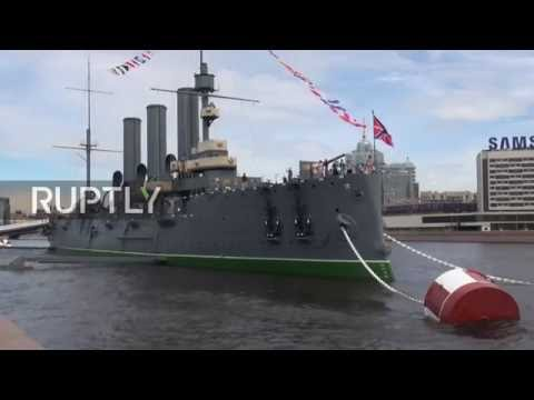 Russia: Legendary Aurora battleship goes back on display in St. Petersburg