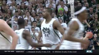 Wisconsin At Michigan State - Men's Basketball Highlights