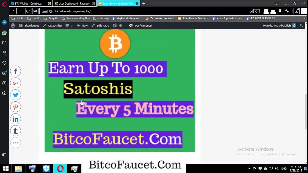 New high Paying Bitcoin Faucet   10000 Satoshis Every 5 Minutes ...