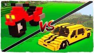 👉 Casa de MOTO vs casa de COCHE - MINECRAFT