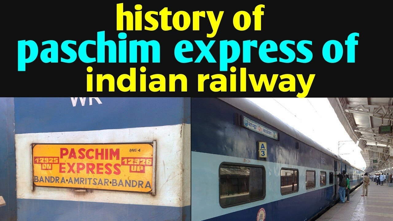 History of paschim express of indian railway