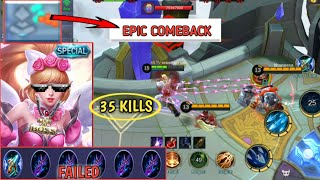 Gambar cover FASTEST ATTACK SPEED | 35 KILLS | 1 HIT TOWER EPIC COMEBACK | MOBILE LEGENDS