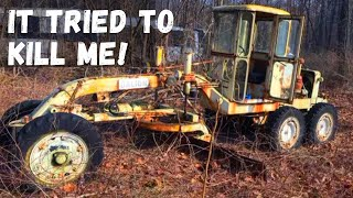 1950's Galion Road Grader sitting 10+ years! (Will it run and drive??)