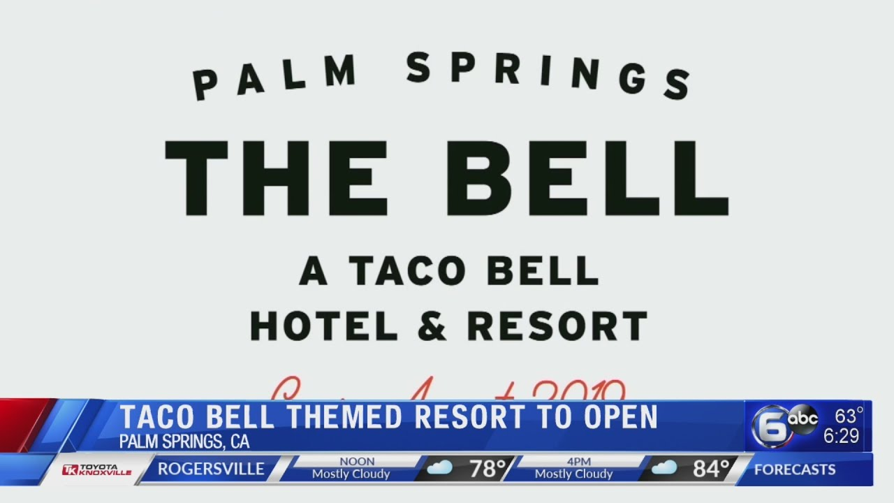 Taco Bell-themed hotel to open for 3 nights in California