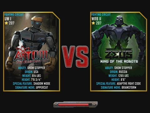 Real Steel WRB Atom VS Zeus (champion) NEW graphics blows