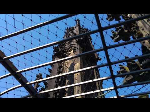 Observation deck in the Cologne cathedral.
