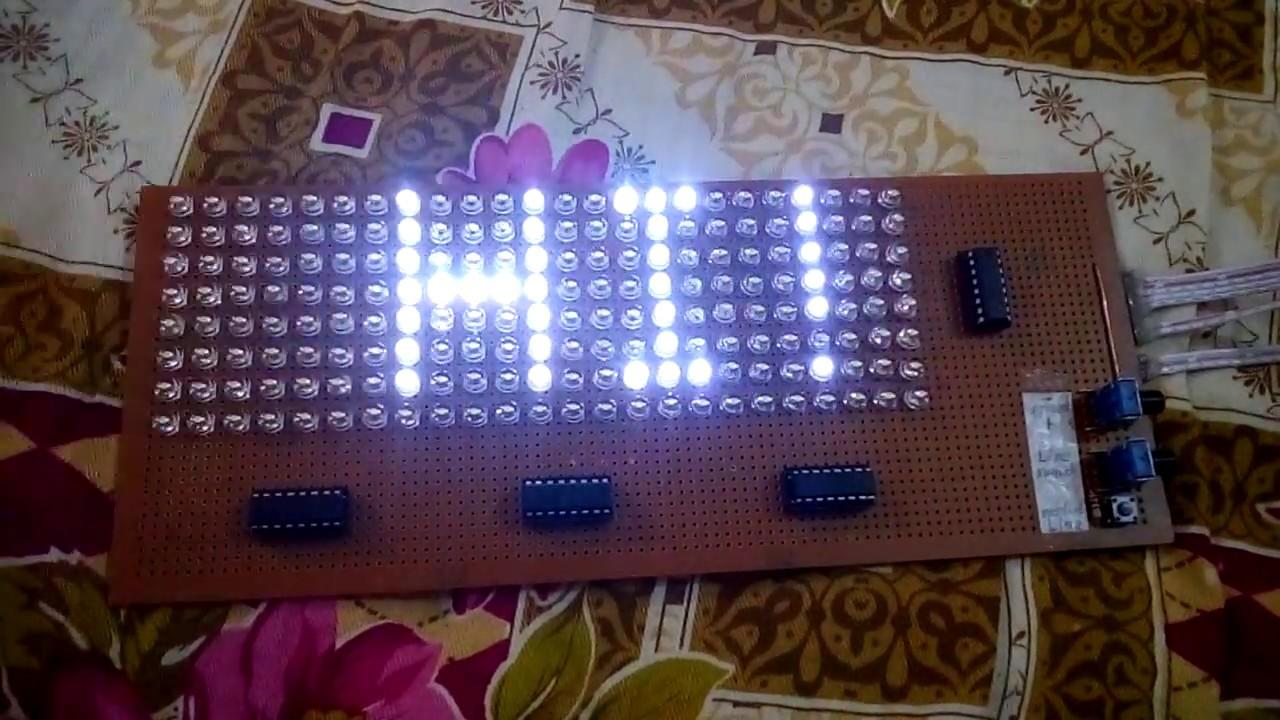 824 Led Matrix 474hc595 Shift Register Electronic Projects Youtube Schematic For The Ledmatrix Showing 4x5