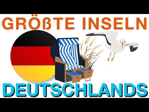 Die 20 größten Inseln Deutschlands