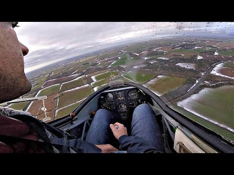 Glider HOVERING? K13 Slow Flight, Stall, Steep Turn & Landing | Oxford Gliding Club | GoPro Cockpit