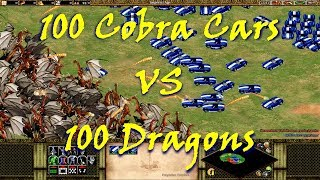 Age of Empires II: Forgotten Empires - 100 Dragons VS 100 Cobra Cars