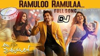 RamulO Ramula Full Song Dj Chatal Band Remix ||Ala Vaikuntapuramu lo Dj Song 2019||(Download Link👇)