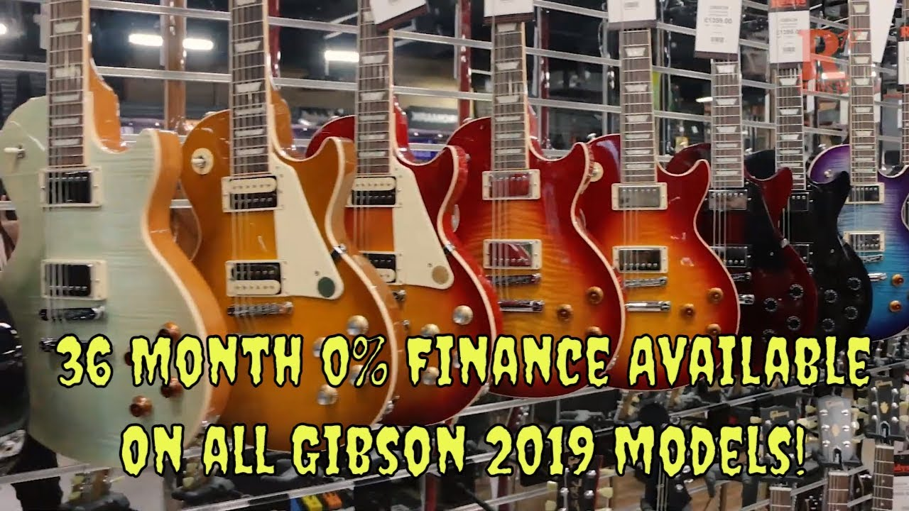36 Month 0% Finance on all Gibson 2019! - YouTube