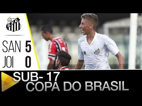Sub-17 | Santos 5 x 0 Joinville  | Copa do Brasil (06/04/16)