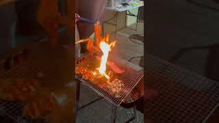 글램핑 가서 고기 불 쇼