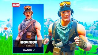 The RECON SCOUT is BACK in Fortnite! (RARE SKIN)