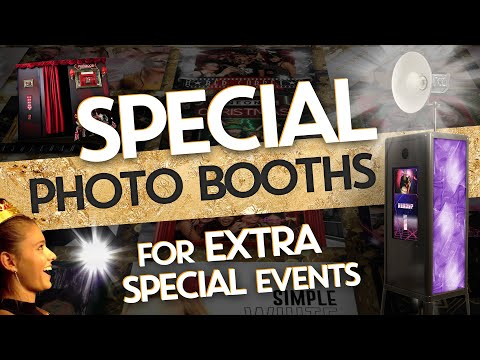 Special photo booths & photos, for extra special events   Blooper Photobooths